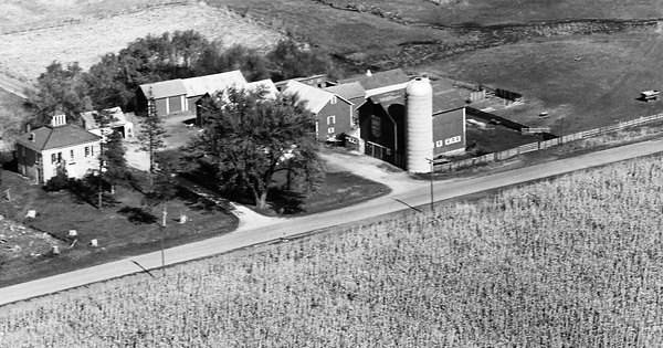Vintage Aerial photo from 1964 in Winnebago County, IL