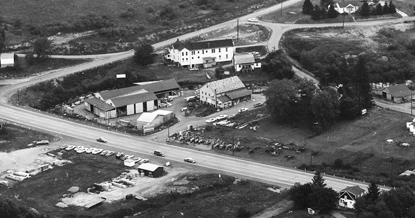 Vintage Aerial photo from 1965 in Butler County, PA