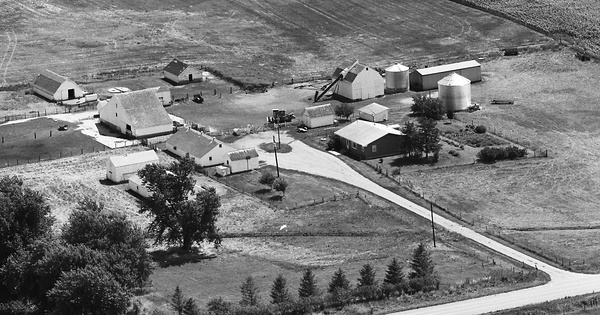 Vintage Aerial photo from 1976 in Calhoun County, IA