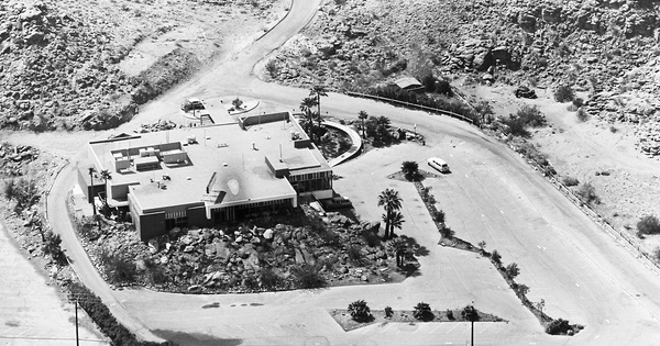 Vintage Aerial photo from 1965 in Riverside County, CA