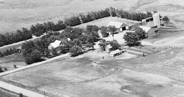 Vintage Aerial photo from 1968 in Sumner County, KS