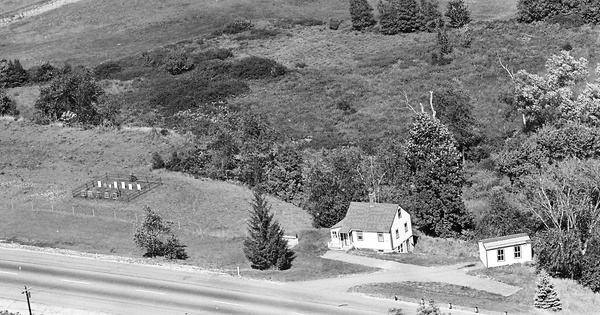 Vintage Aerial photo from 1963 in Strafford County, NH