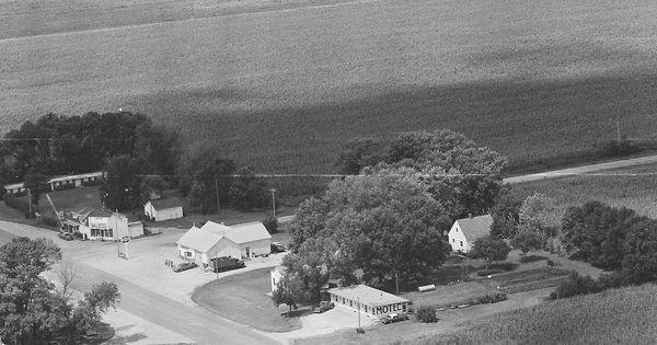 Vintage Aerial photo from 1980 in Faribault County, MN