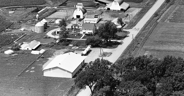 Vintage Aerial photo from 1965 in Jasper County, IA