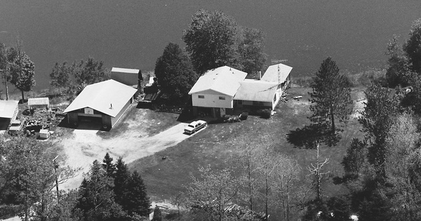 Vintage Aerial photo from 1985 in Oscoda County, MI