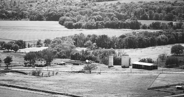 Vintage Aerial photo from 1977 in Greenwood County, KS
