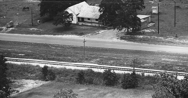 Vintage Aerial photo from -1986 in Brazos County, TX