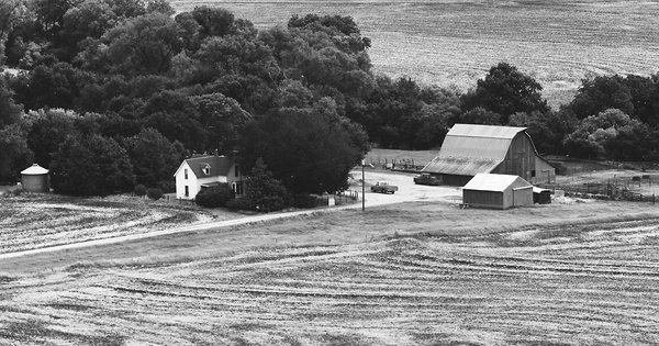 Vintage Aerial photo from 1977 in Sumner County, KS