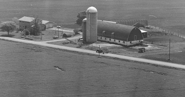 Vintage Aerial photo from 1977 in Calumet County, WI