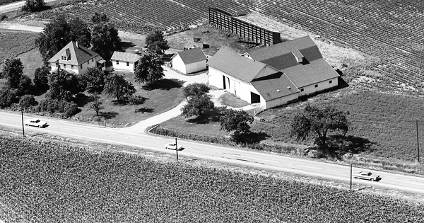Vintage Aerial photo from 1966 in Wood County, OH