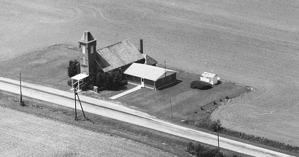 Vintage Aerial photo from 1990 in Wood County, OH