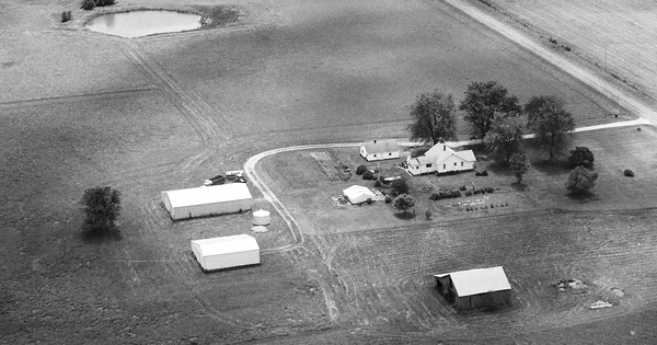 Vintage Aerial photo from 1999 in Callaway County, MO