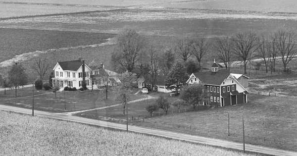 Vintage Aerial photo from 1976 in McDonough County, IL