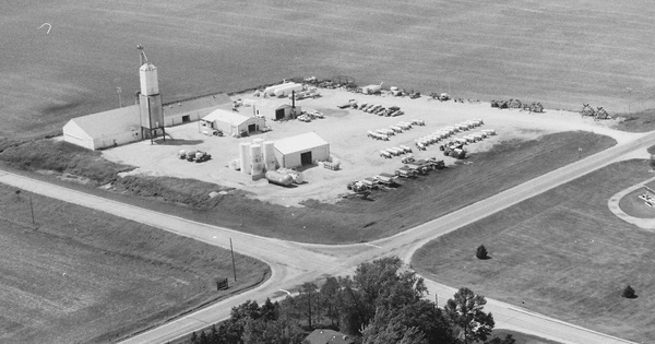 Vintage Aerial photo from 1996 in Fayette County, IA