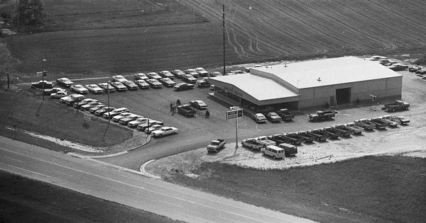 Vintage Aerial photo from 1978 in Oceana County, MI