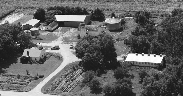 Vintage Aerial photo from 1986 in Meeker County, MN