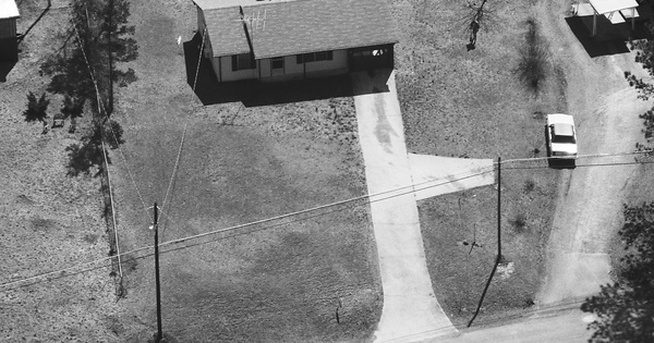 Vintage Aerial photo from 1987 in Carroll County, GA
