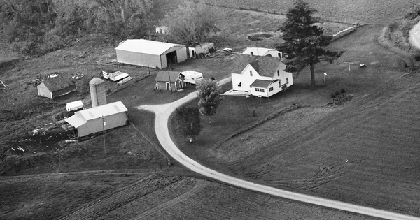 Vintage Aerial photo from 1982 in Dunn County, WI