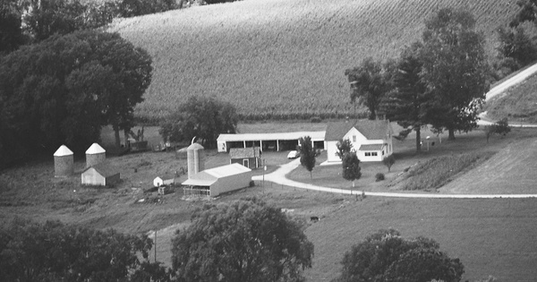 Vintage Aerial photo from 1978 in Dunn County, WI