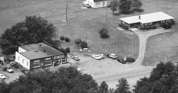 Vintage Aerial photo from 1988 in Goochland County, VA