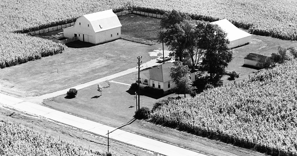 Vintage Aerial photo from 1966 in Sangamon County, IL