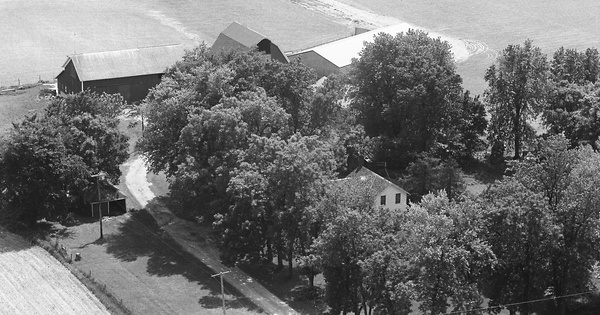 Vintage Aerial photo from 1968 in Stephenson County, IL