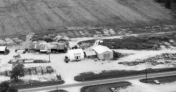 Vintage Aerial photo from 1992 in Jefferson County, IL