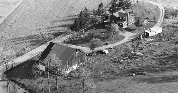 Vintage Aerial photo from 1968 in Cambria County, PA