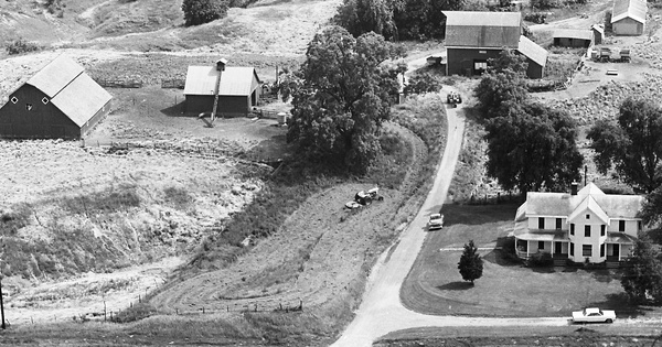 Vintage Aerial photo from 1967 in Rock Island County, IL