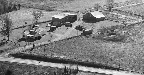 Vintage Aerial photo from 1980 in Hardin County, KY