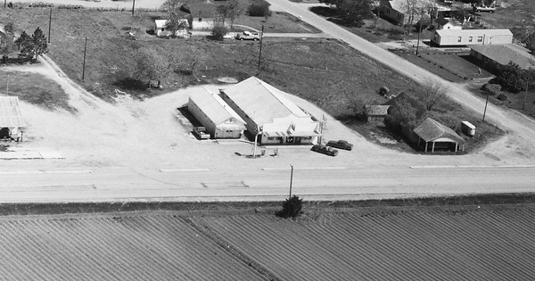 Vintage Aerial photo from 1986 in Wharton County, TX