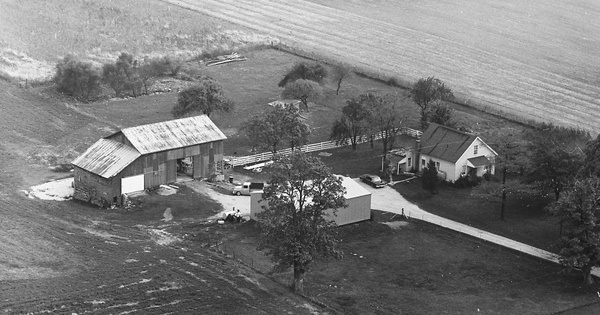 Vintage Aerial photo from 1968 in Miami County, OH