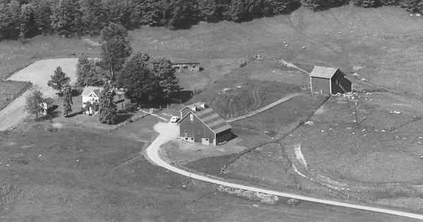 Vintage Aerial photo from 1983 in Noble County, OH