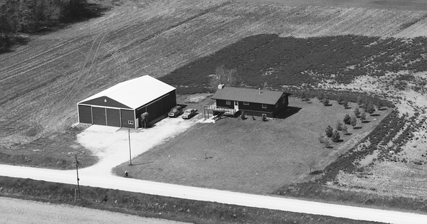 Vintage Aerial photo from 1989 in Black Hawk County, IA