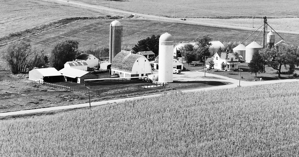 Vintage Aerial photo from 1977 in Le Sueur County, MN