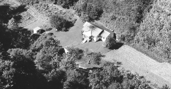 Vintage Aerial photo from 1985 in Knott County, KY
