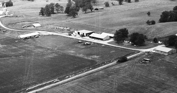 Vintage Aerial photo from 1993 in Callaway County, MO