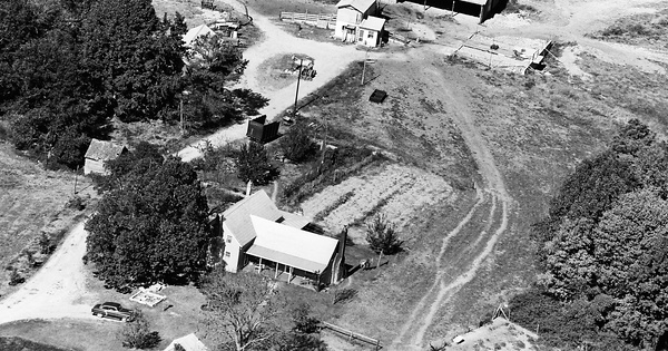 Vintage Aerial photo from 1965 in Wake County, NC