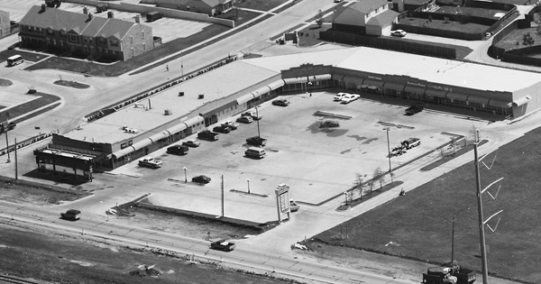 Vintage Aerial photo from 1991 in Dallas County, TX