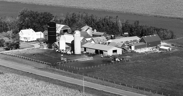Vintage Aerial photo from 1977 in Brown County, MN