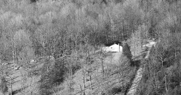 Vintage Aerial photo from 1985 in Edmonson County, KY