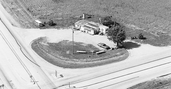 Vintage Aerial photo from 1980 in Edgar County, IL