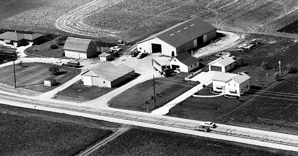 Vintage Aerial photo from 1964 in Racine County, WI