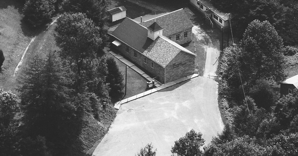 Vintage Aerial photo from 1983 in Clay County, WV