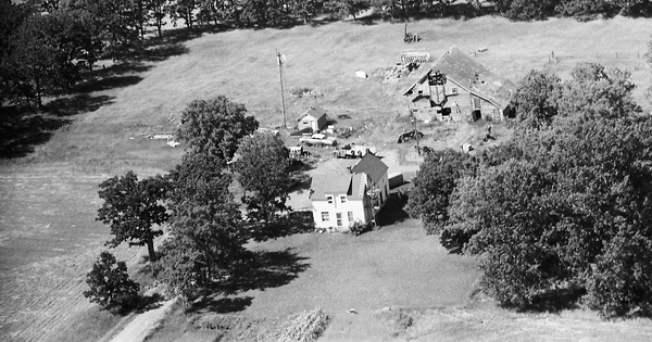 Vintage Aerial photo from 1969 in Sherburne County, MN