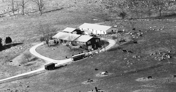 Vintage Aerial photo from 1992 in Grainger County, TN