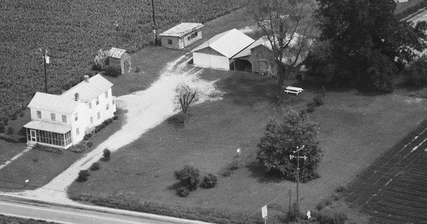 Vintage Aerial photo from 1986 in Surry County, VA
