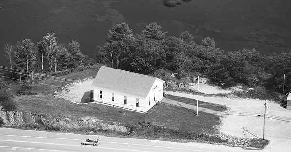 Vintage Aerial photo from 1993 in Sagadahoc County, ME