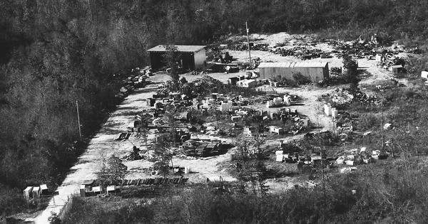Vintage Aerial photo from 1990 in Jackson County, AL
