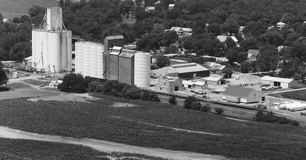 Vintage Aerial photo from 1984 in Brown County, KS
